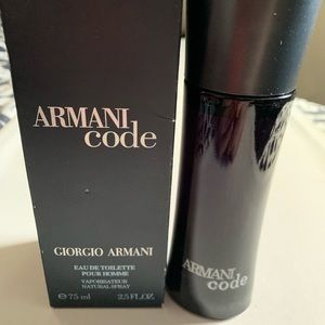 Other - Armani code for men 2.5 oz new open box